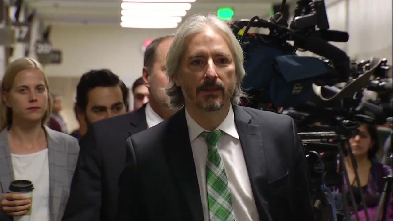 Defense Attorney Matt Gonzalez walks outside the courtroom after the Kate Steinle verdict was read on Thursday, Nov. 30, 2017 in San Francisco.KGO-TV