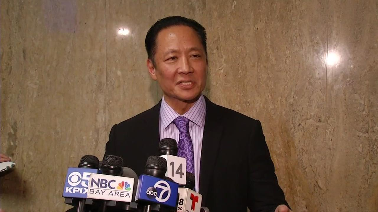SF Public Defender Jeff Adachi speaks outside the courtroom after the Kate Steinle verdict was read on Thursday, Nov. 30, 2017 in San Francisco.KGO-TV