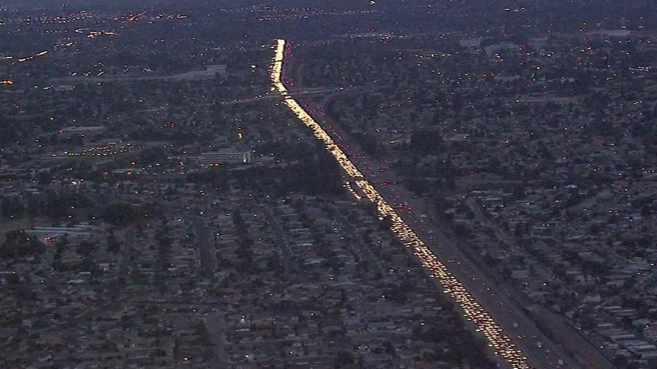 Fatal pedestrian accident triggers major backup on I-880 in Oakland.