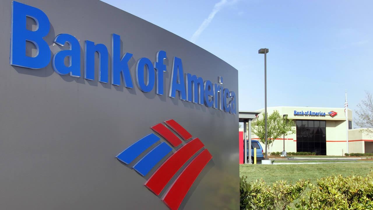 A Bank of America branch is shown in a Charlotte, N.C. file photo from April 20, 2006. (AP Photo/Chuck Burton, File)