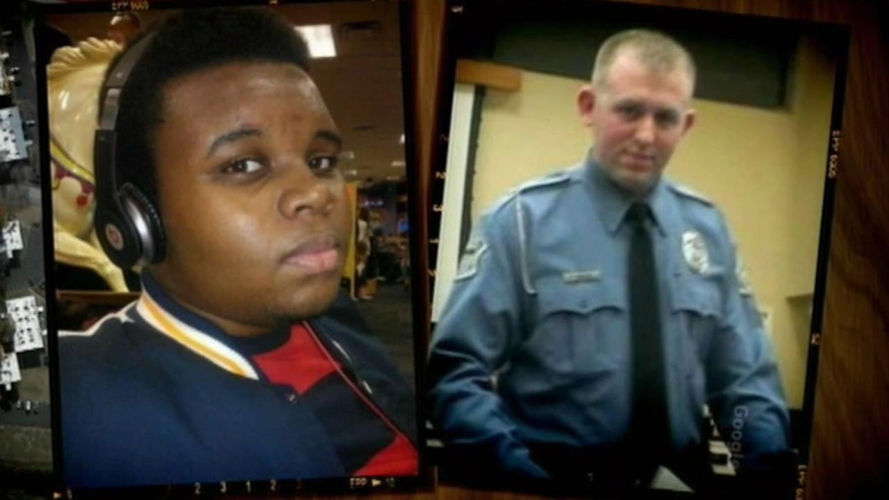 Officer Darren Wilson and Michael Brown.