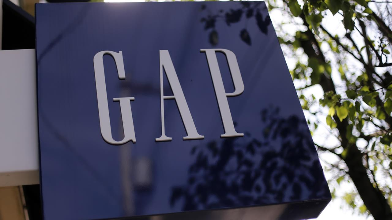 This May 14, 2014 photo shows the sign on a GAP store in Pittsburgh. (AP Photo/Gene J. Puskar)