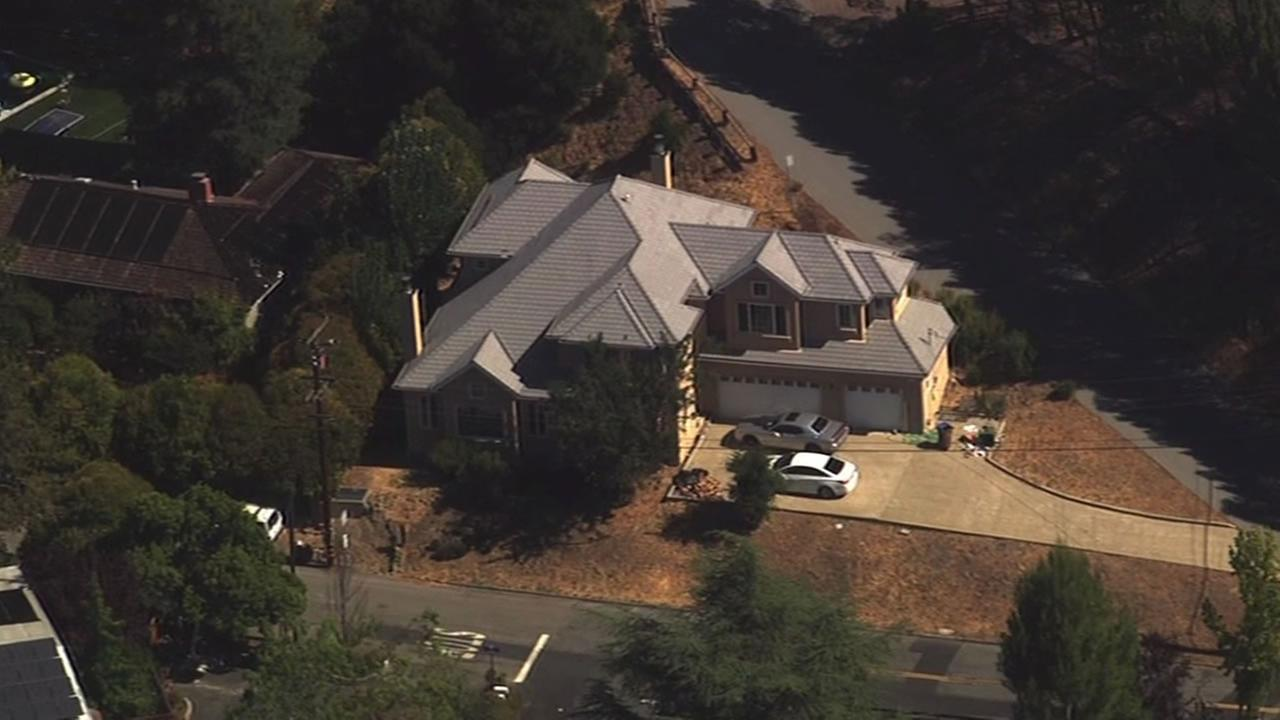 The house where Marin County Sheriff deputies attempt to issue a high risk search warrant