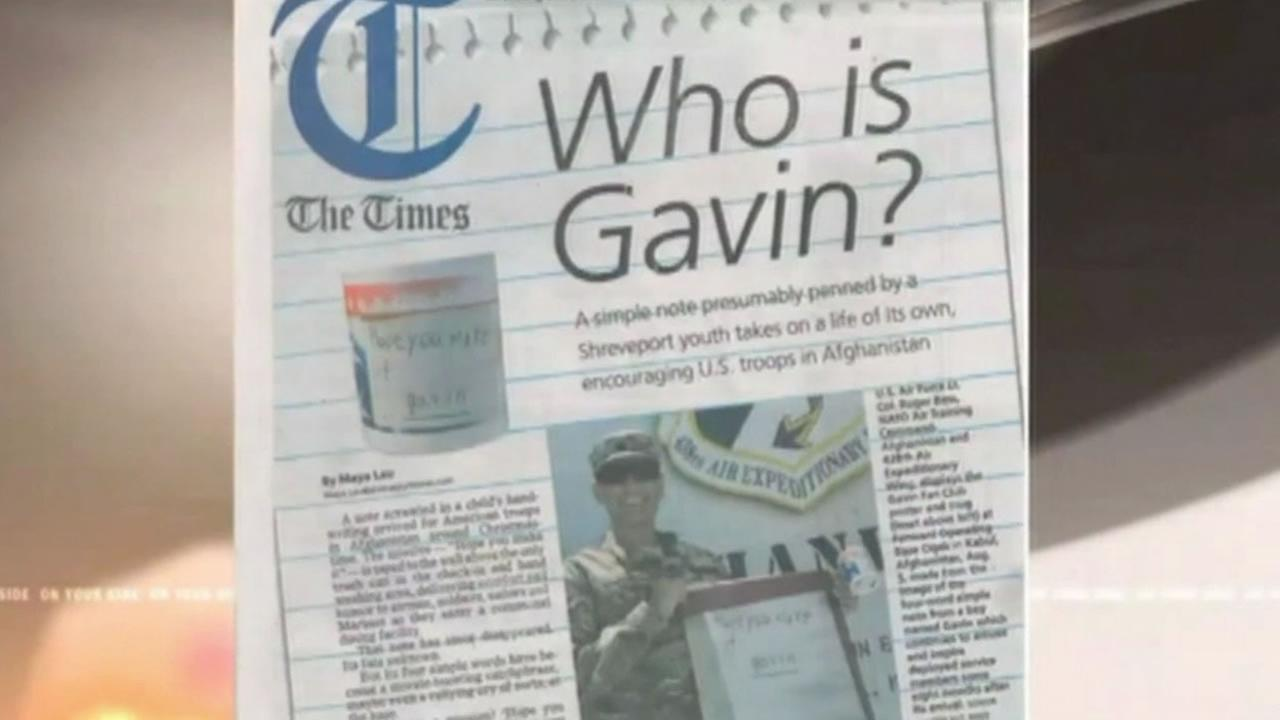 Newspaper article that started the Find Gavin campaign.