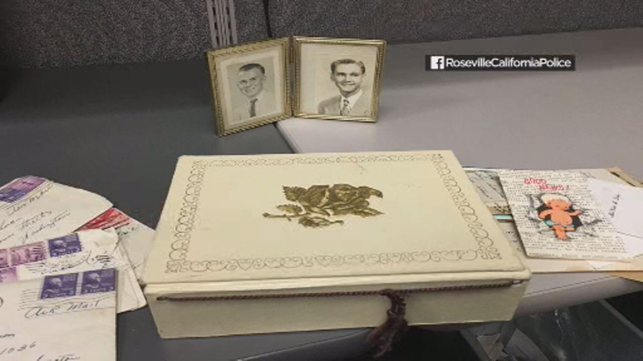 Roseville police are looking to return a box of mementos dating back to 1920s.