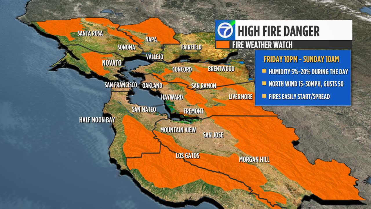 High winds to bring fire danger to bay area abc7news click here to download the abc7 news app to get your weather forecast on the go and make sure you enable push alerts for immediate notifications and severe gumiabroncs Choice Image