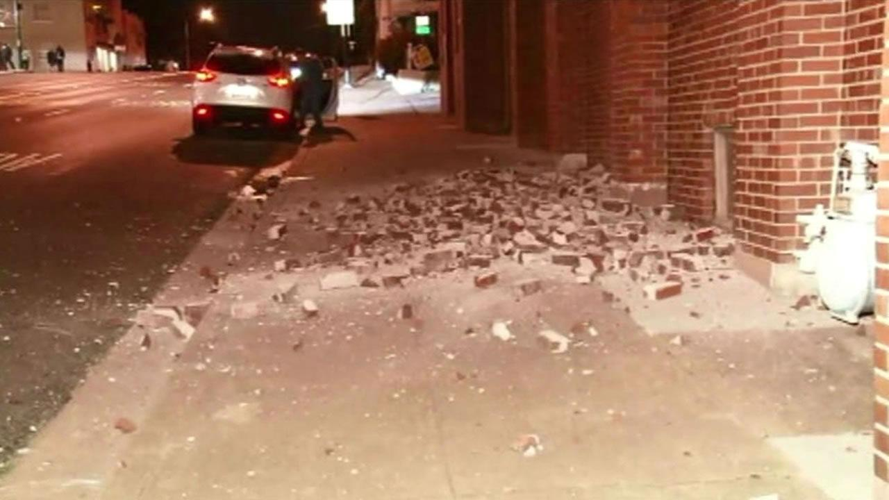 Earthquake damage around the Bay Area
