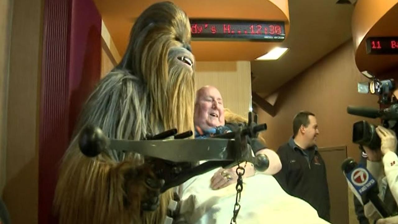 Ron Villemaire dying wish to see the new Star Wars movie came true on Saturday, Dec. 15, 2017 in Bedford. N.H.