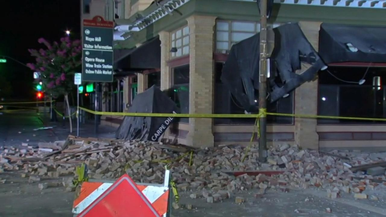 Alexandria Square at 2nd and Brown Streets in Napa suffered extensive damage in 6.0 magnitude earthquake on Sunday, August 24, 2014.