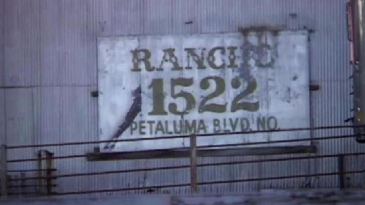 Sign for Petaluma-based Rancho Feeding Corp.