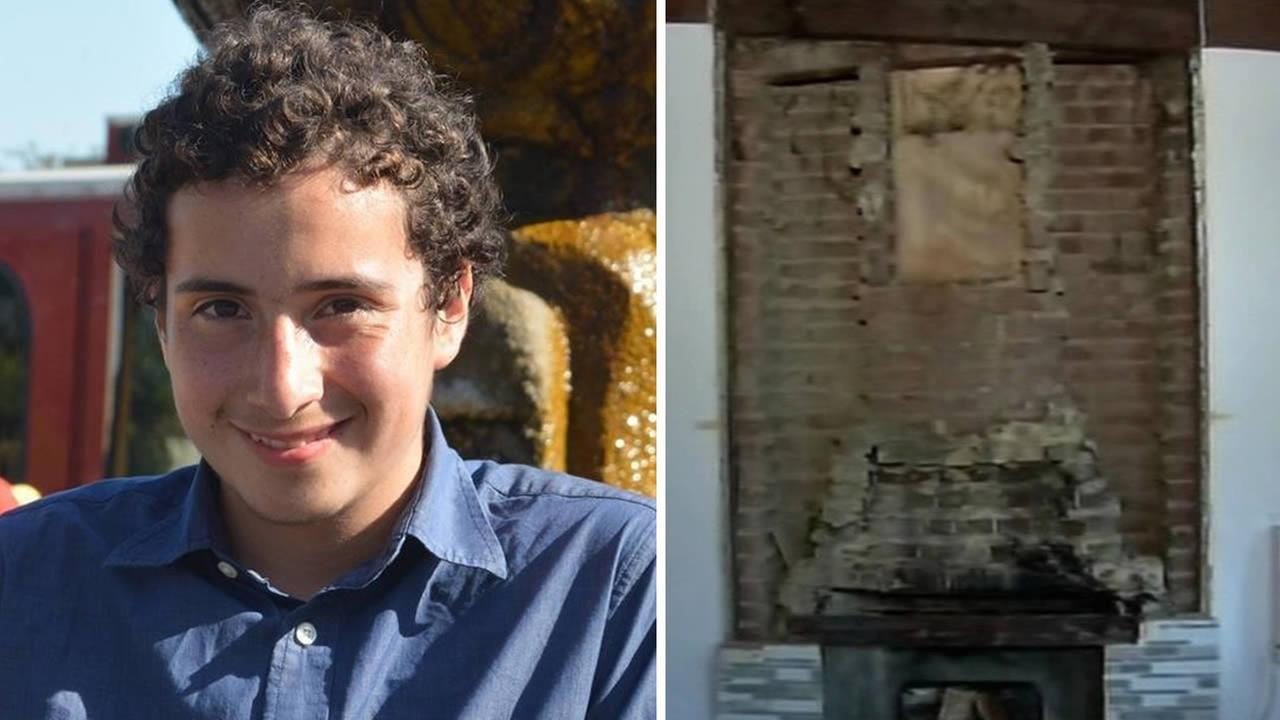 Nicholas Dillon, 13, was critically injured when bricks from a fireplace fell on him during a 6.0-magnitude earthquake that hit the Bay Area.