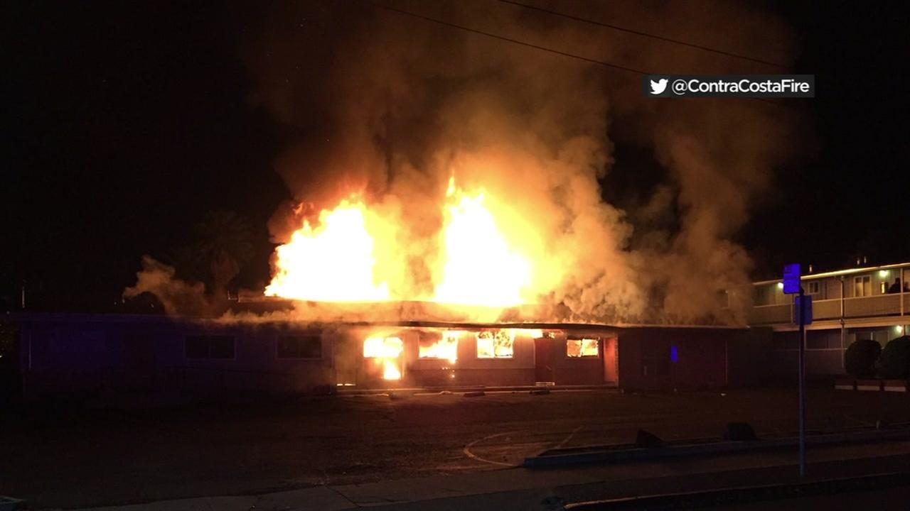 Fire in Antioch, California, Friday, December 22, 2017.