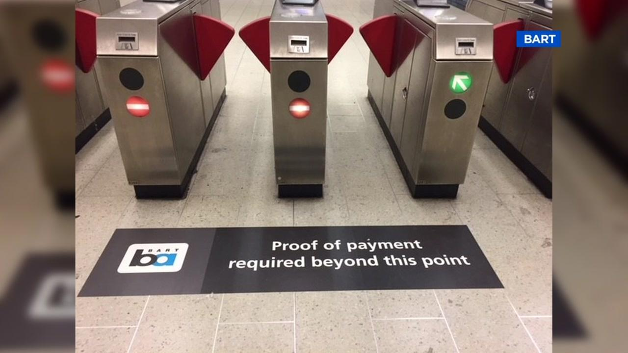 Warning signs like this one, captured on Friday, Dec. 22, 2017, are now at BART stations.