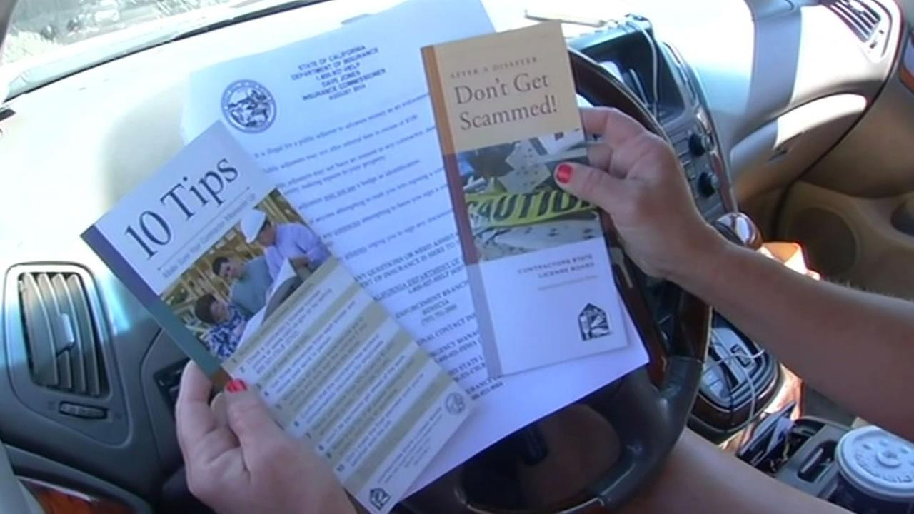 State investigators hand out materials to protect against fraud