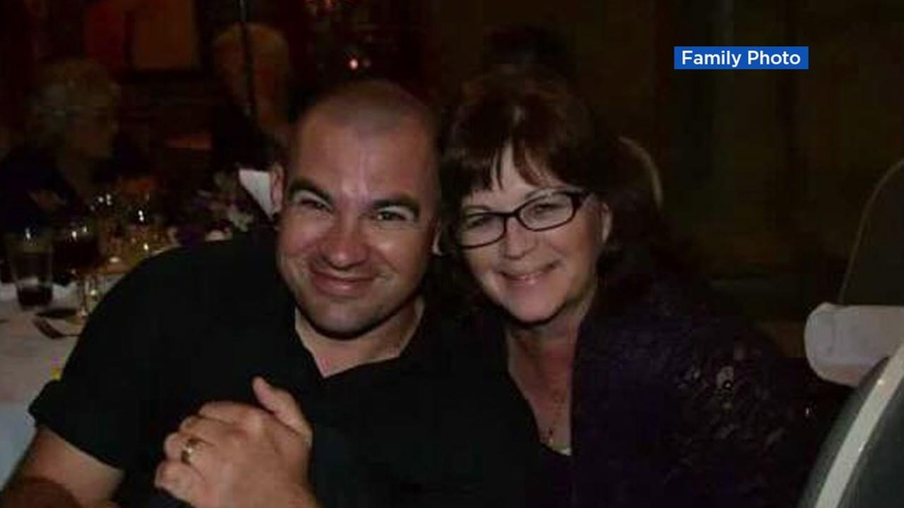 Andrew Camilleri appears in this undated image with his mother.