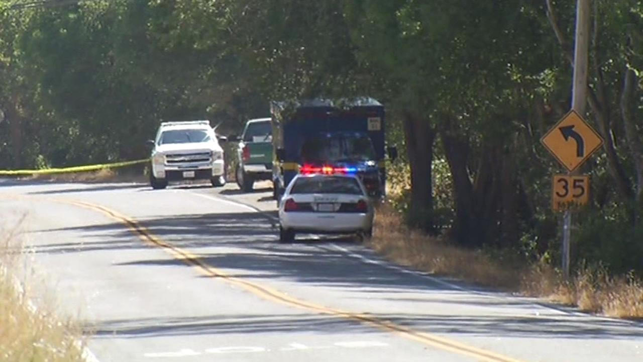 The Santa Clara County Sheriffs office is investigating a burned body found near Oak Glen Ave in Morgan Hill on Thursday 28, 2014.
