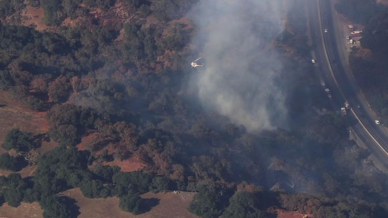 Calfire is battling a 70-acre fire near Gilroy along Hwy 152.