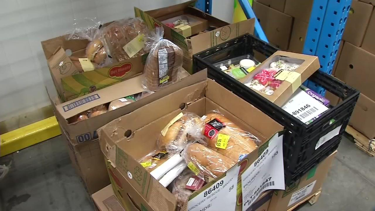 Boxes of food that has been donated appear in San Francisco on Wednesday, Jan. 3, 2017.