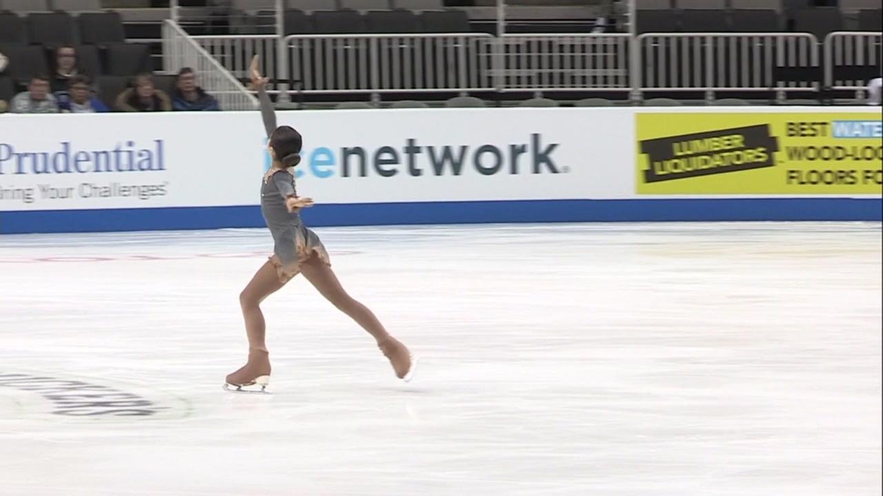 Alysa Liu ice skates in San Jose, Calif. on Wednesday, Jan. 3, 2018.