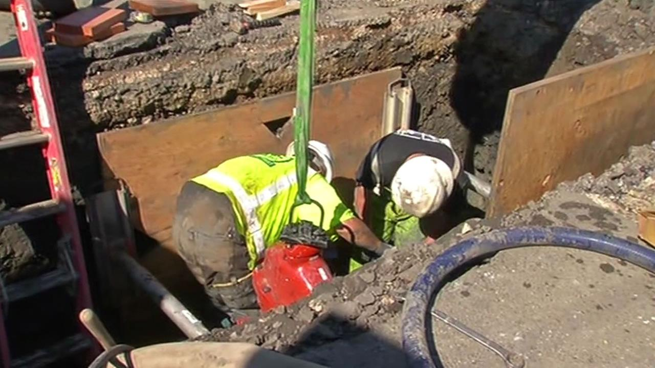 Crews repairing all the ruptured water lines in Napa.