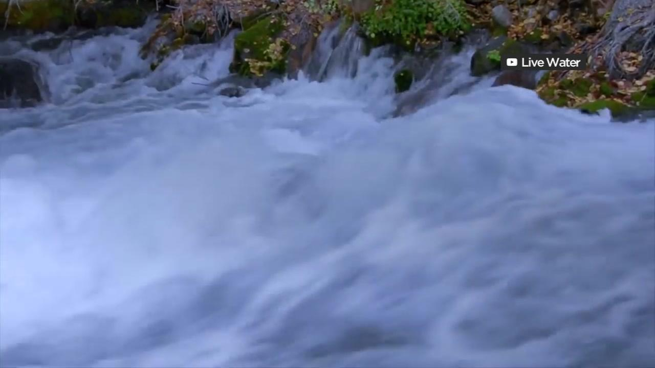 This is an undated image of a rushing spring.