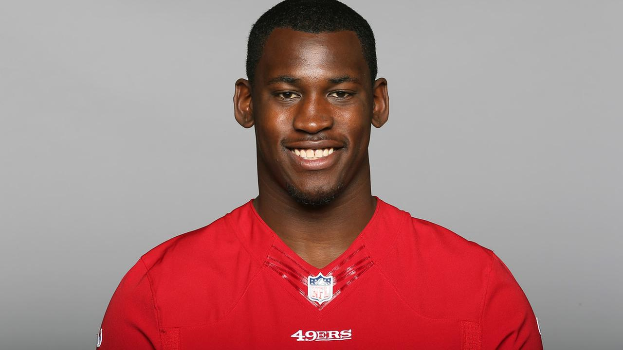 This is a 2014 photo of Aldon Smith of the San Francisco 49ers NFL football team. (AP Photo)