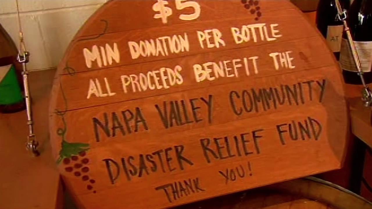 Napa quake fundraiser.