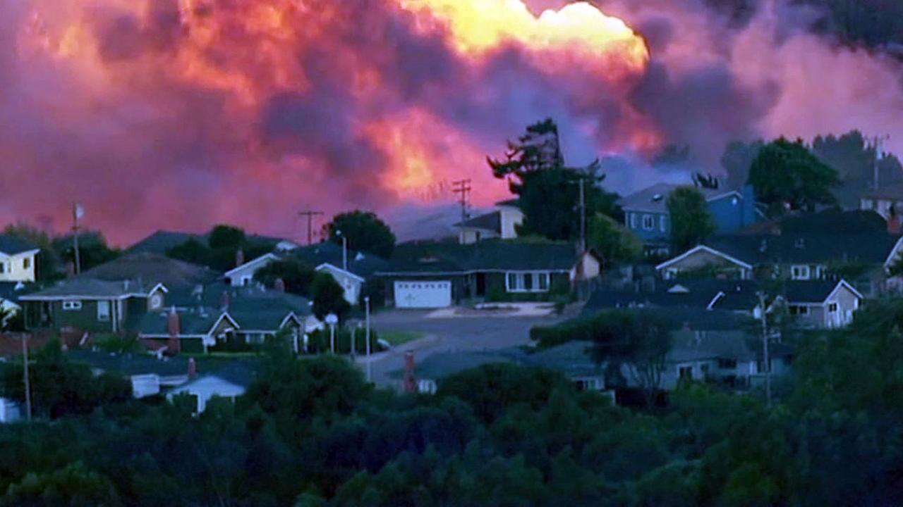 The PG&E pipeline fire that hit San Bruno on September 9, 2010.