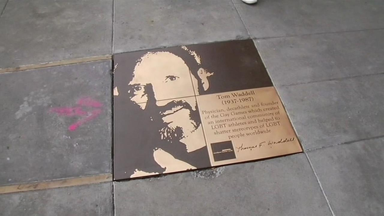 The Rainbow Walk of Fame in San Franciscos Castro District.