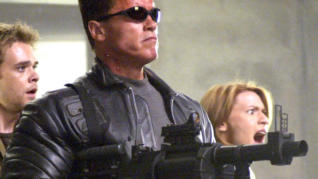 ** FILE ** Warner Bros. Pictures shows Arnold Schwarzenegger in his role as the Terminator in his most recent sequel Terminator 3: Rise of the Machines.(AP Photo/Warner Bros. Pictures, Robert Zuckerman, File)