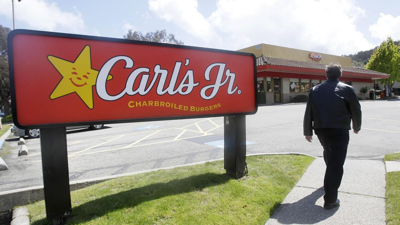 sign for a Carls Jr.
