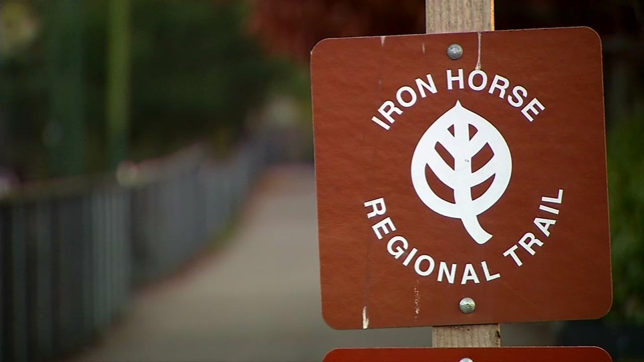 A sign for the Iron Horse Trail is seen in Walnut Creek, Calif. in this undated image.