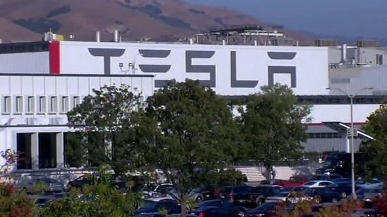 Tesla factory in Fremont, California