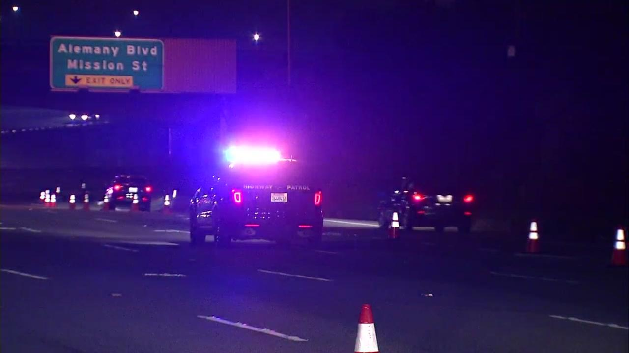 Shooting investigation on I-280 in San Francisco, Monday, January 15, 2018.