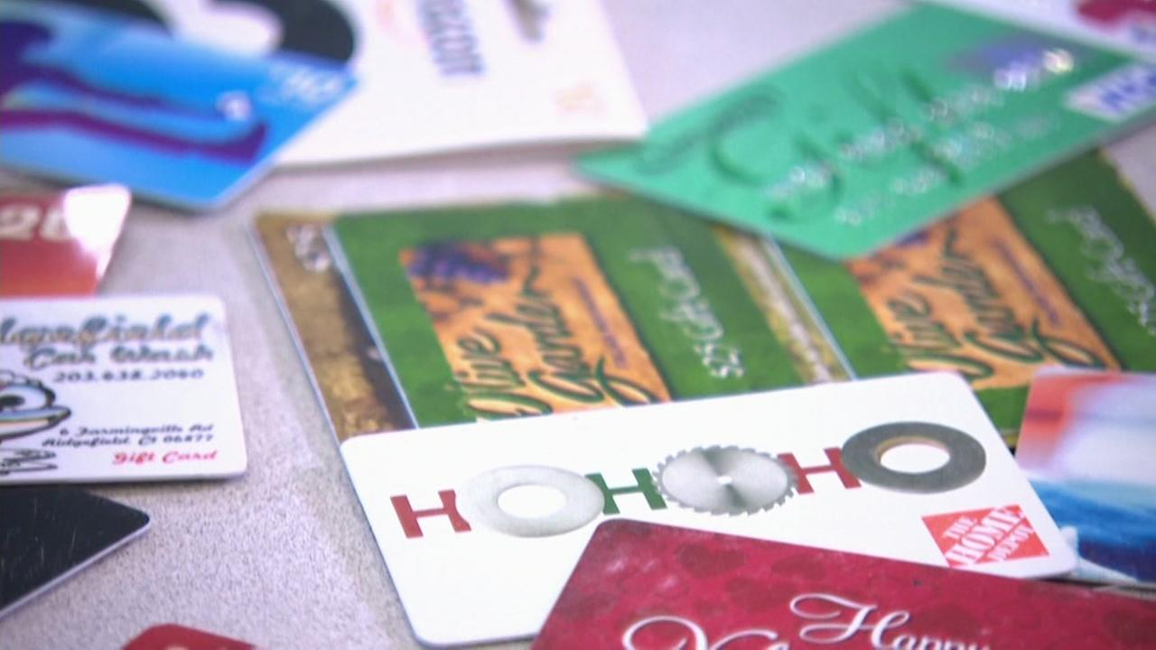 This is an undated image of gift cards.