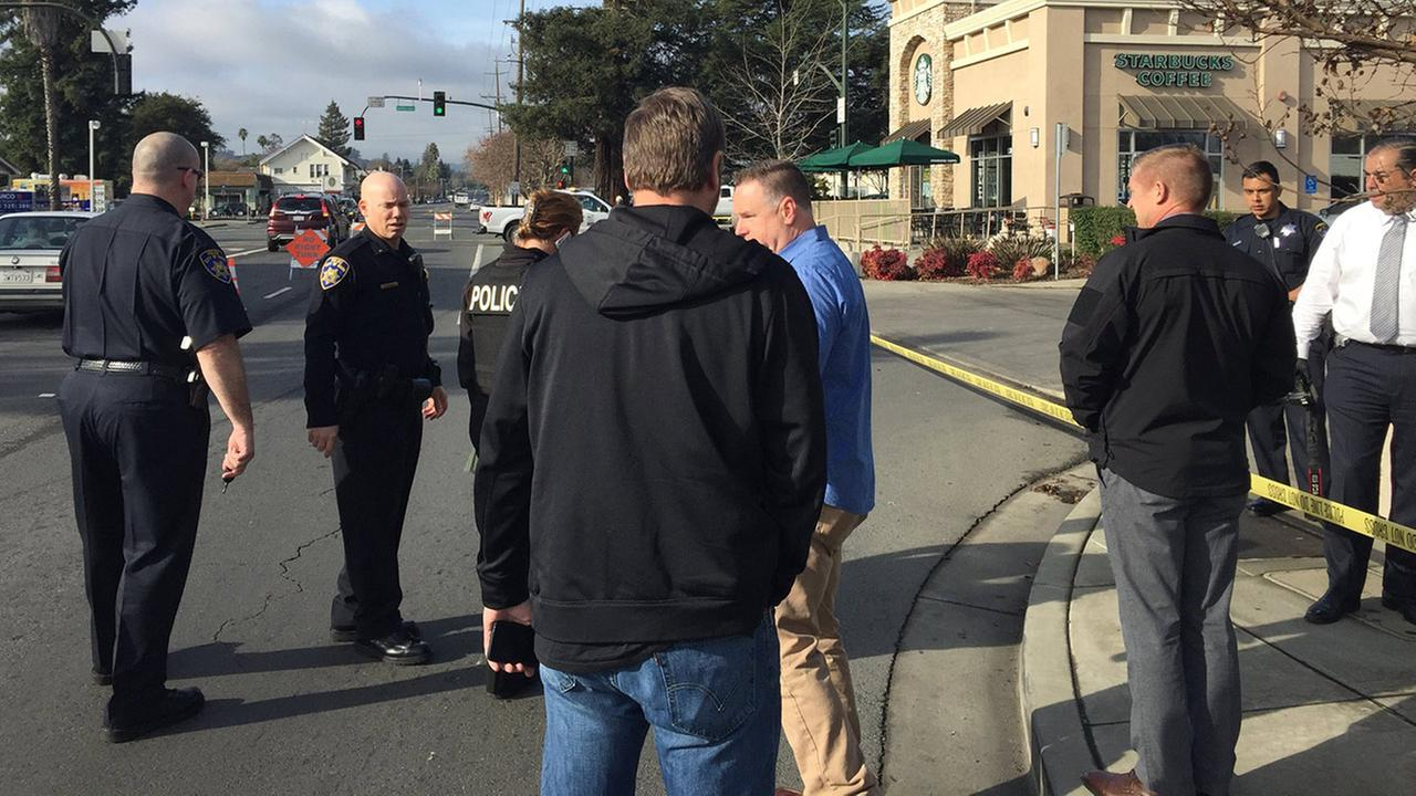 Shooting scene in Napa, California, Wednesday, January 17, 2017.