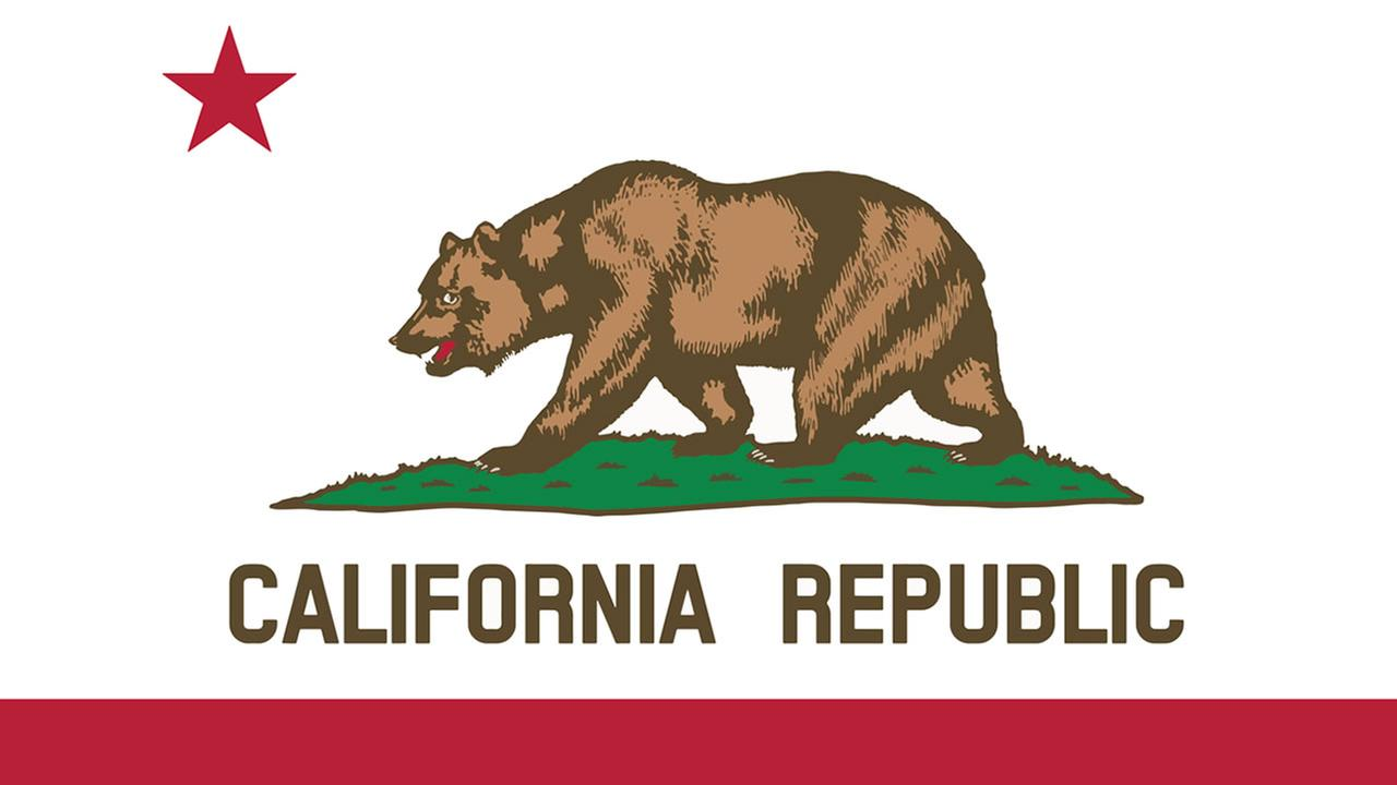The California flag is pictured in this undated file photo.