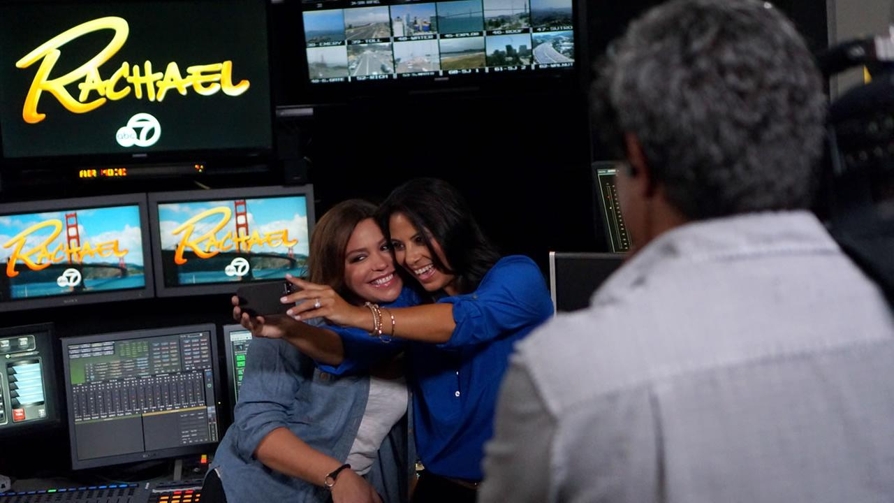 Rachael Ray visits ABC7 in San Francisco