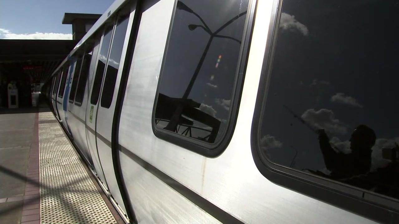 New BART cars appear in Richmond, Calif. on Friday, Jan. 19, 2018.