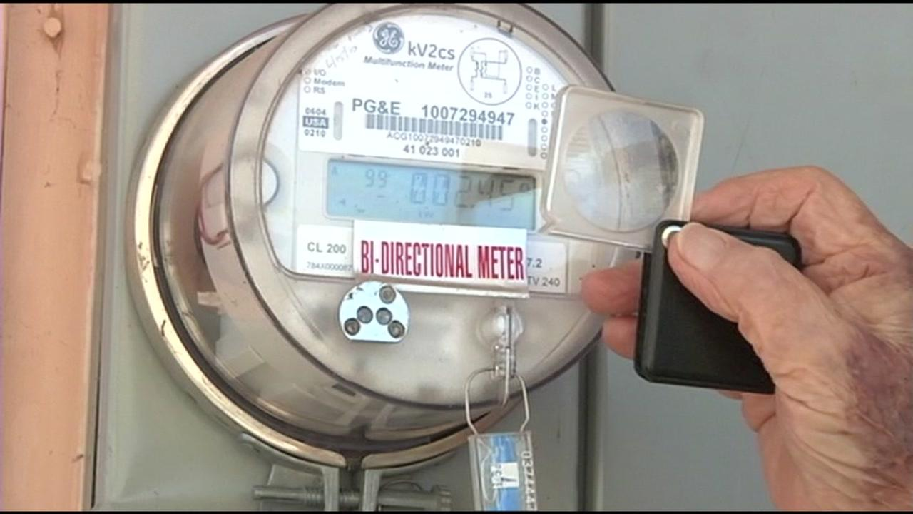 This is an undated image of a PG&E meter.