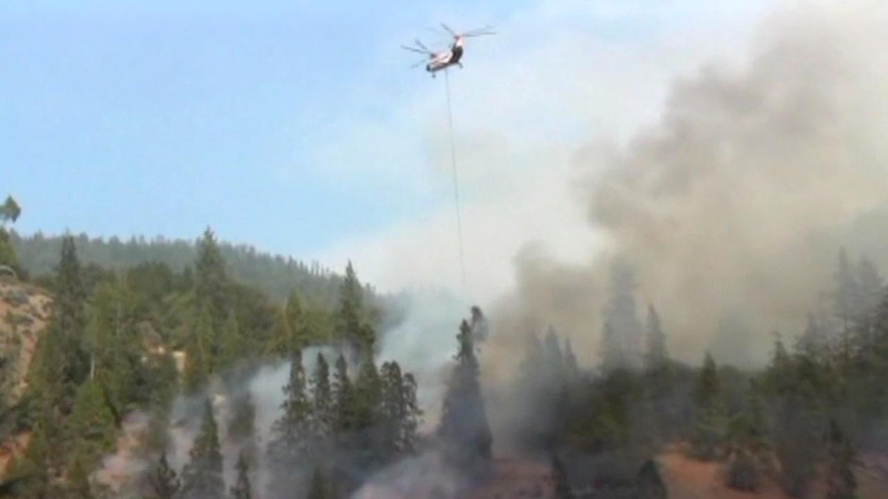 Fire burning near Yosemite