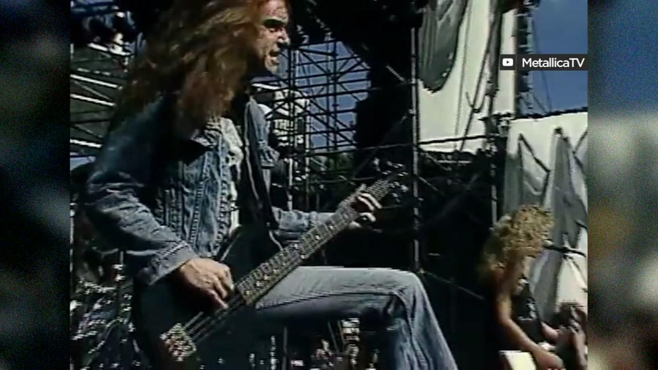 This is an undated image of Castro Valleys Cliff Burton, former bassist for Metallica.