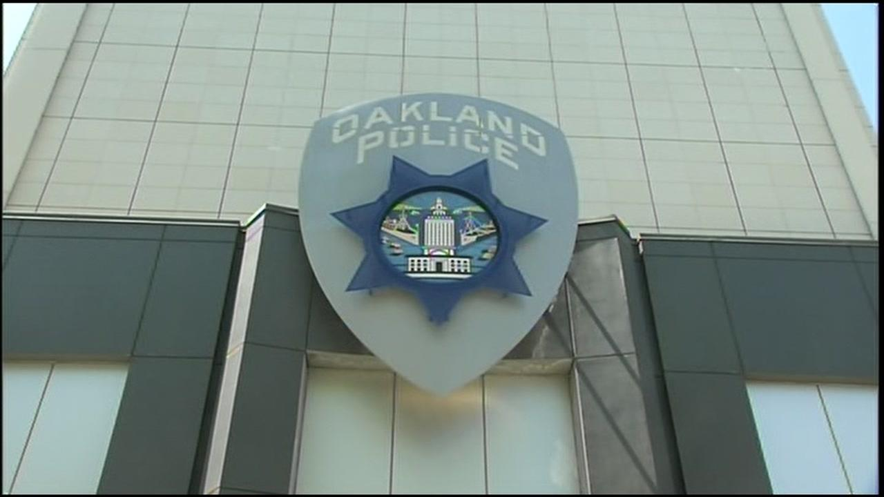 The front of the Oakland Police Department is pictured in this photo taken on Thursday, Jan. 25, 2018 in Oakland, Calif.
