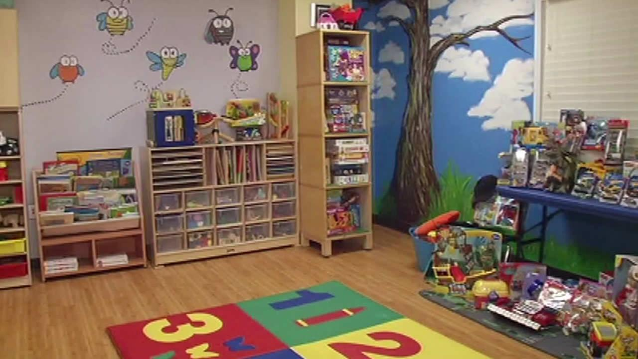 New kids playroom at Compass Family Services in San Francisco.