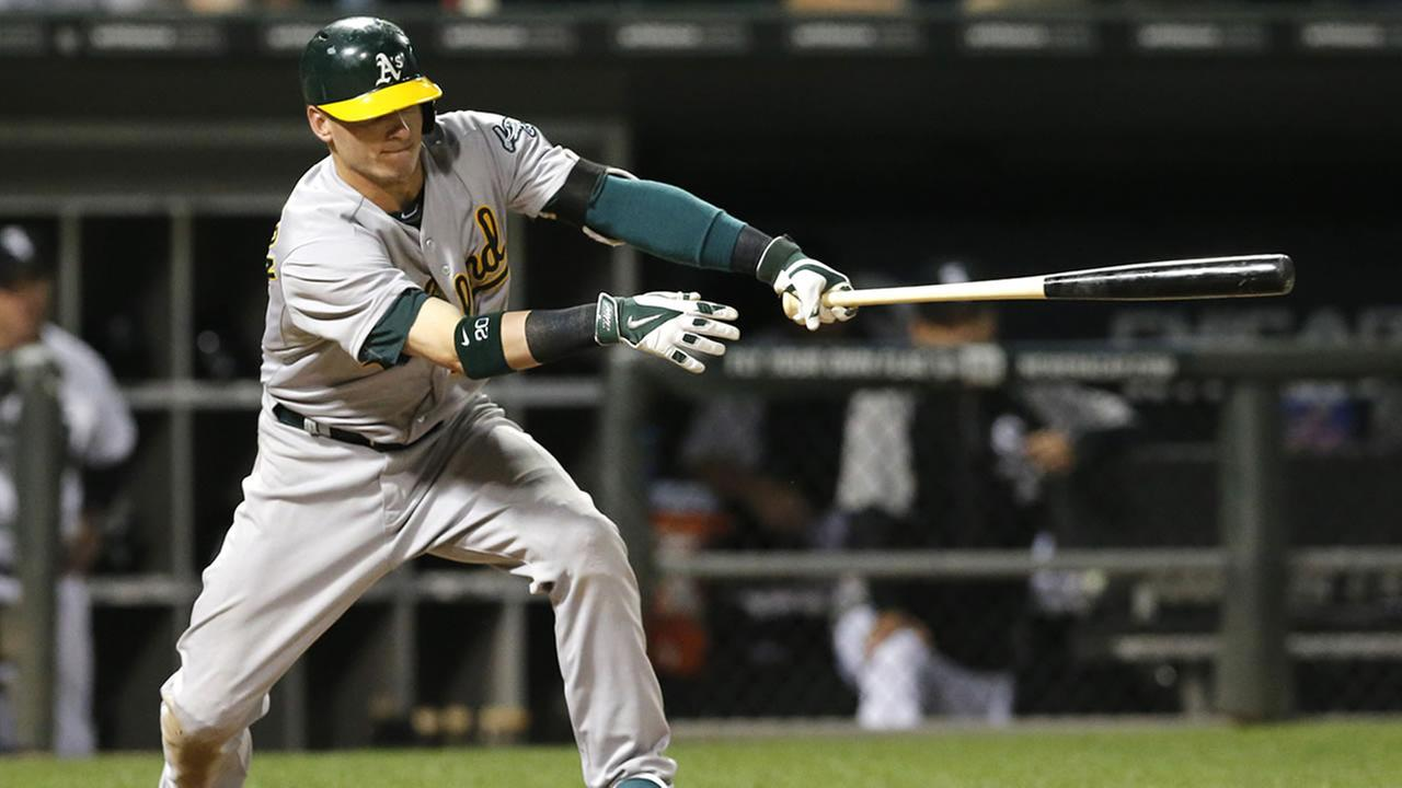 Oakland Athletics Josh Donaldson hits
