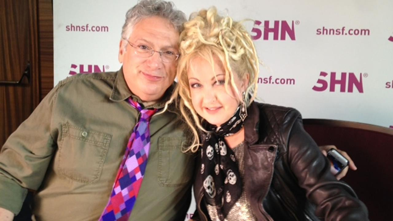 Harvey Fierstein and Cyndi Lauper in San Francisco.
