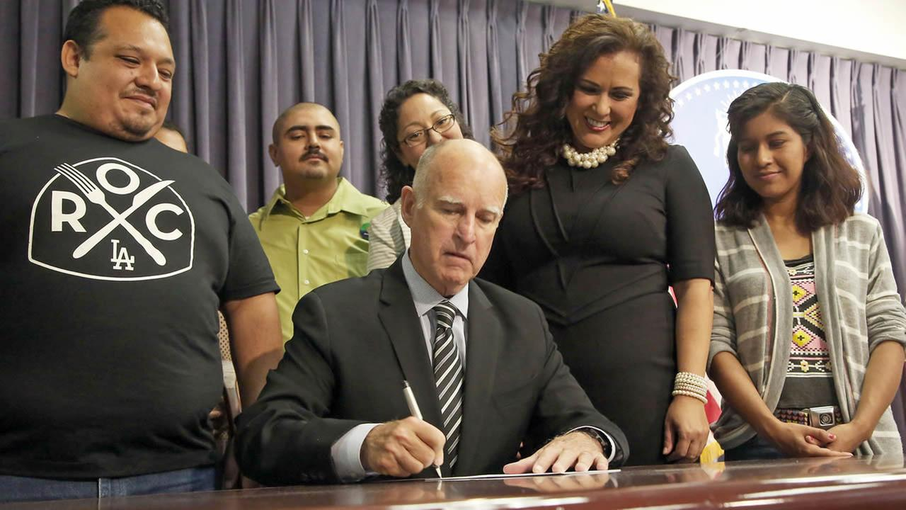 Governor Brown signs new sick leave legislation.