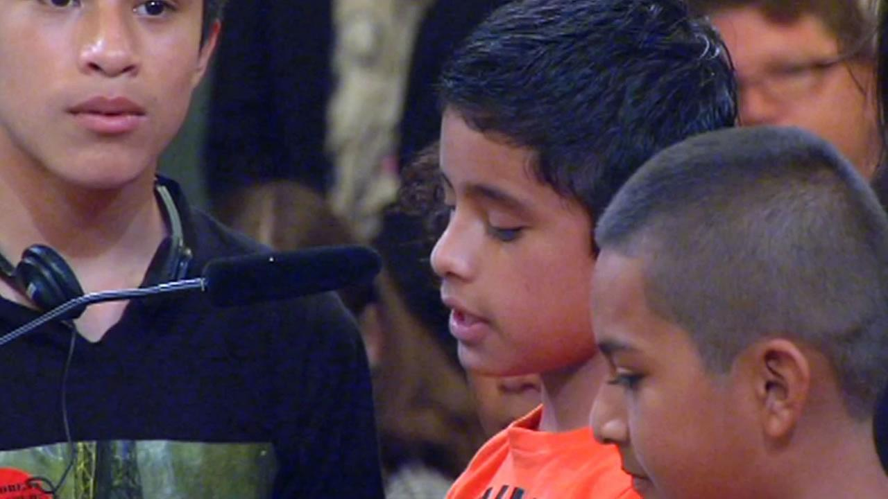 A group of boys, who fled the violence in their native countries to seek safety in the United States, told their story Wednesday at San Francisco City Hall.
