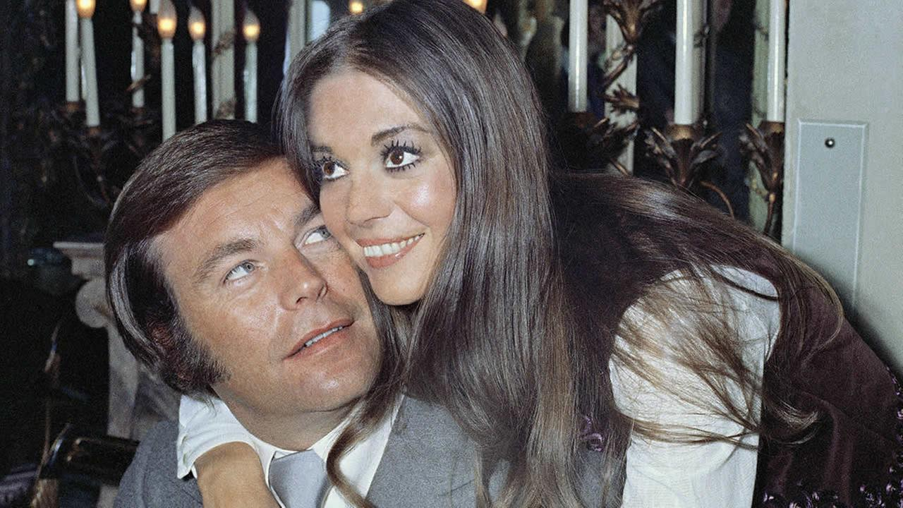 Actor Robert Wagner and former wife Natalie Wood, on board the Queen Elizabeth II in April 1972, after a hectic storm at sea, where they announced that they would remarry.