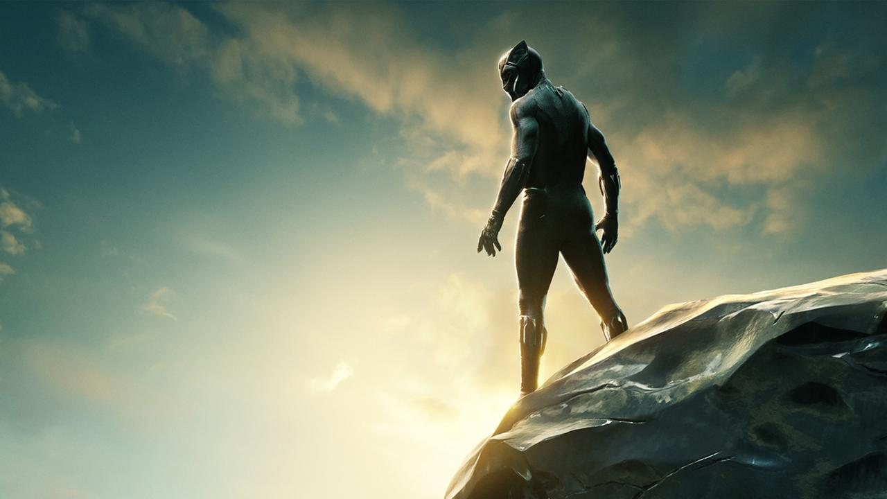 Black Panther, starring Chawick Boseman, is the first major superhero film featuring a black protagonist and a primarily African-American cast.